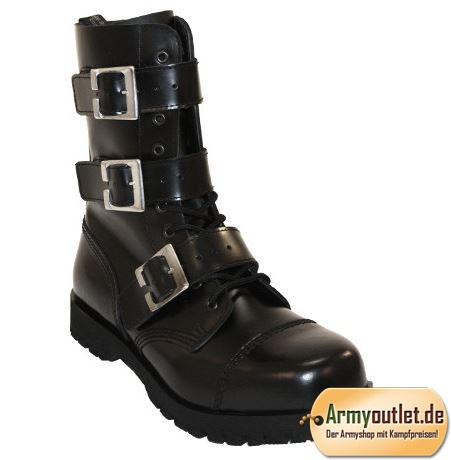 Boots & Braces 10 Loch Boots 3 Buckles mit Zip