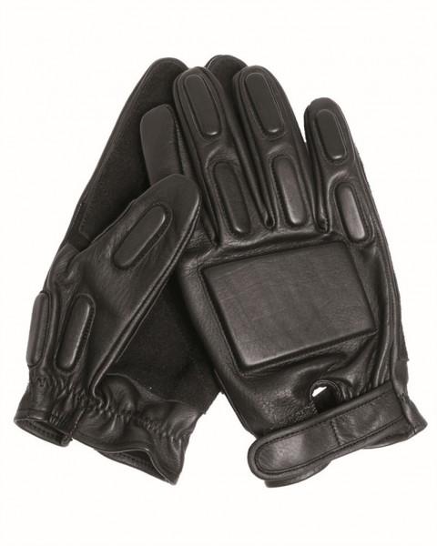 Security Handschuhe Leder schwarz