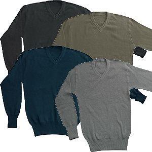BW Dienstpullover Baumwolle alle farben