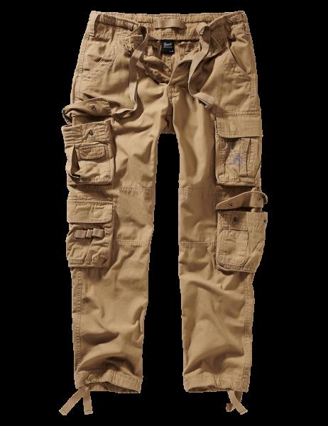 Brandit Pure Slim Fit Trousers - beige - vorn - armyoutlet