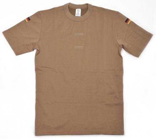 Original Bundeswehr Unterhemd (Tropen) kurzarm khaki mit Klettstreifen