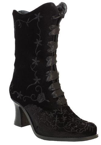 Boots & Braces Lady Boot Black Velvet