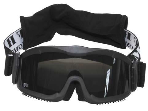 Schutzbrille Thunder deluxe schwarz