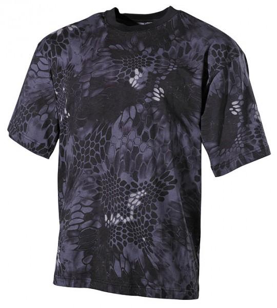 US T-Shirt halbarm snake black