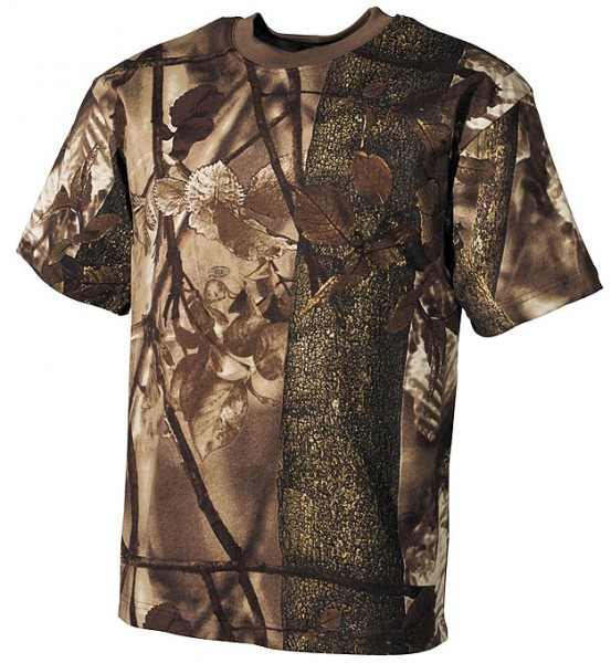 US T-Shirt halbarm hunter brown