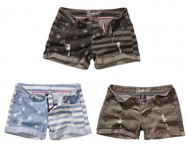Brandit Denim Hotpants Stars and Stripes