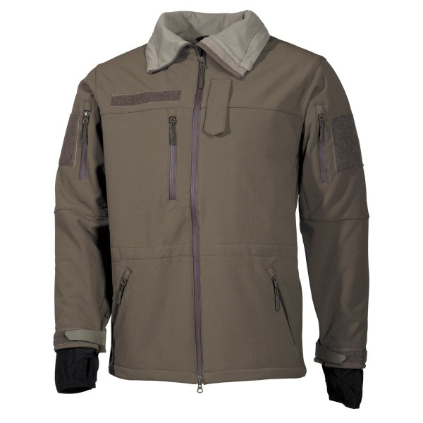 Softshell Jacke High Defence oliv vorn