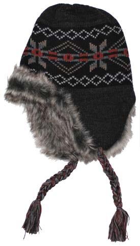Mütze Peru Puno schwarz grau