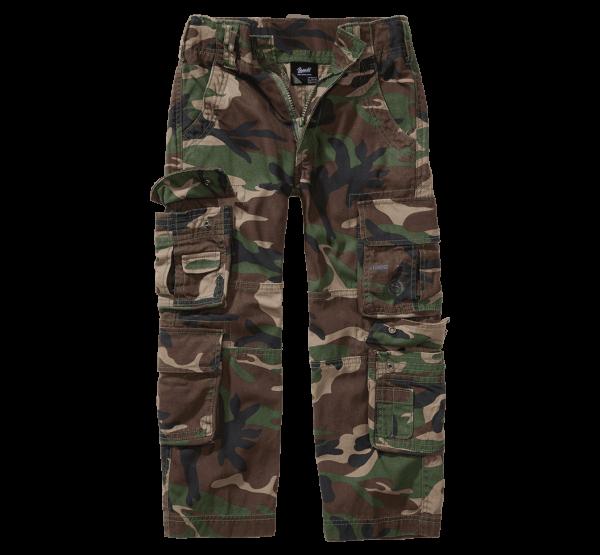Brandit Kids Pure Trouser - woodland - vorn - armyoutlet