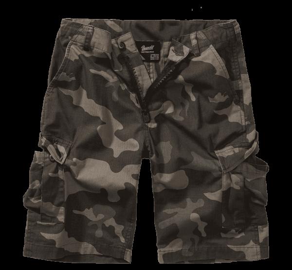 Brandit Kids BDU Ripstop Shorts - darkcamo - vorn - armyoutlet