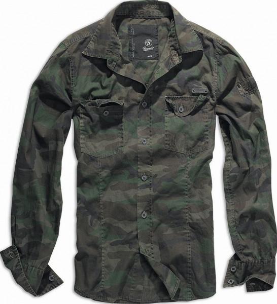 Brandit SlimFit Shirt woodland 1