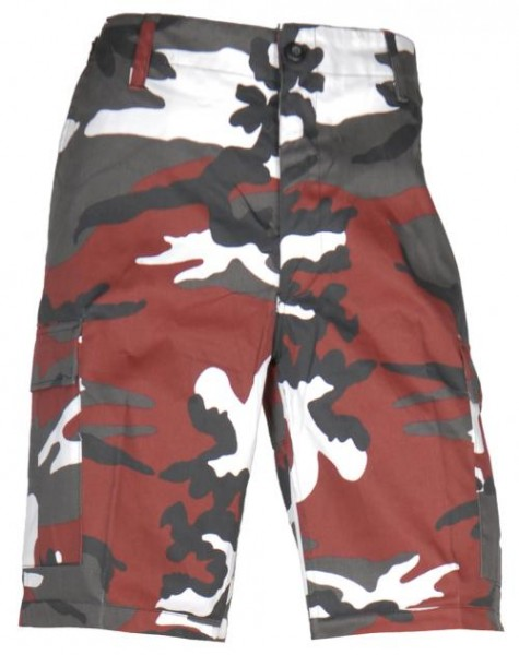 US Bermuda-Shorts red camo
