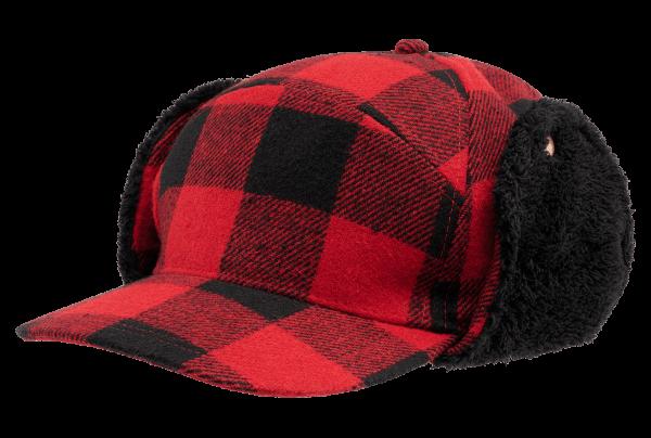 Brandit Lumberjack Wintercap rot-schwarz - armyoutlet.de
