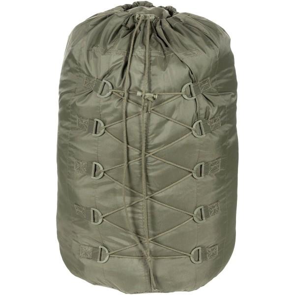 BW Kompressionssack für Schlafsack oliv verpackt