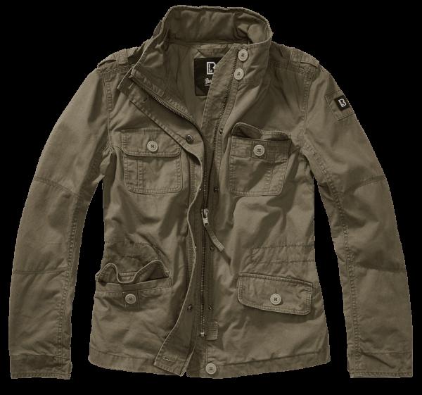 Brandit Ladies Britannia Jacket - oliv - vorn - armyoutlet