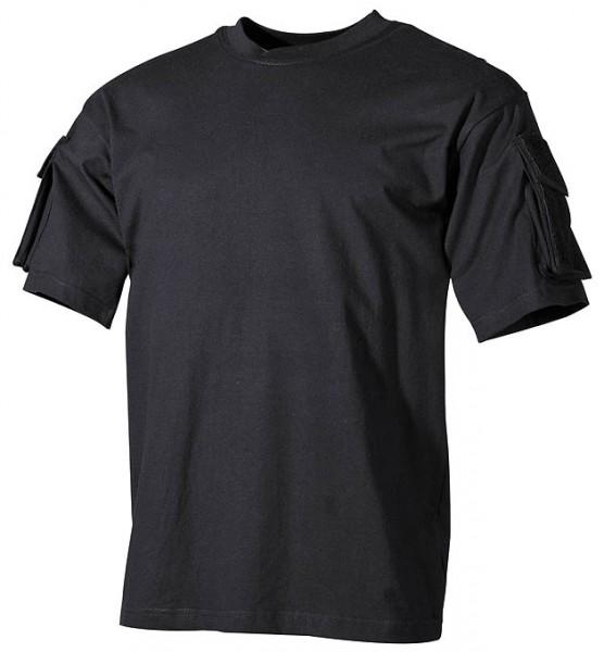 US T-Shirt halbarm mit Ärmeltaschen