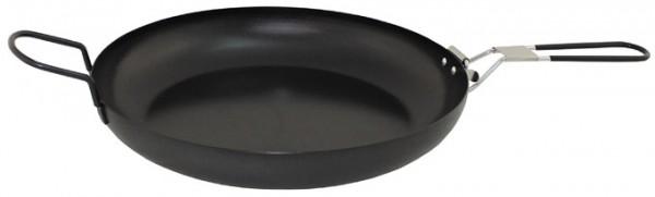 Bratpfanne mit Klappstiel Stahl 24 cm und 30 cm
