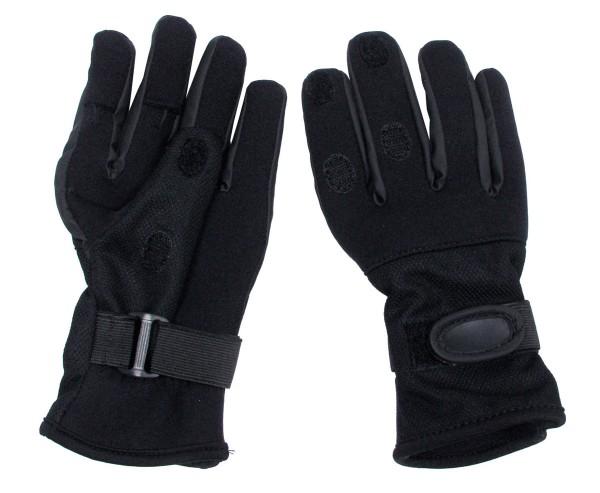 Fingerhandschuhe Mesh Neopren schwarz