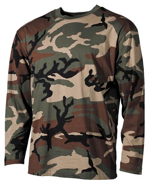 US Tarn Shirt langarm woodland
