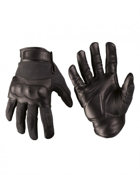 Tactical Gloves Leder Kevlar schwarz