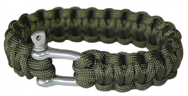 Paracord Armband mit Karabiner