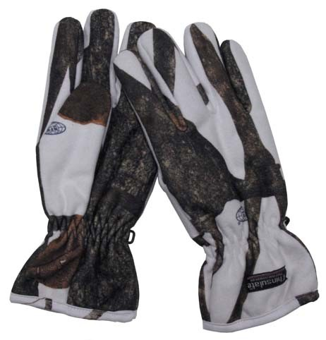 Polarfleece Fingerhandschuhe hunter snow mit Thinsulatefutter