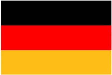 Schwenkfahne Deutschland mit Holzstab 60 x 90 cm