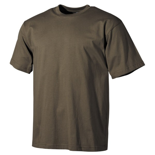 US Army-T-Shirt kurzarm unifarben