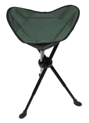 Teleskop Dreibein Klapphocker oliv