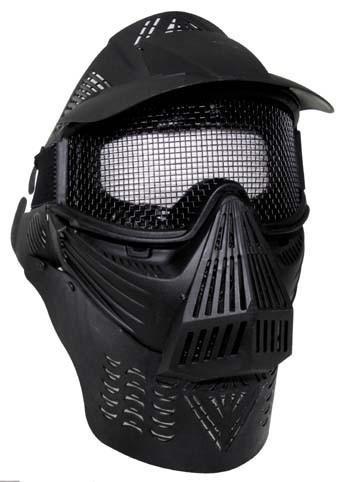 Gesichtsschutzmaske Airsoft De Lux schwarz