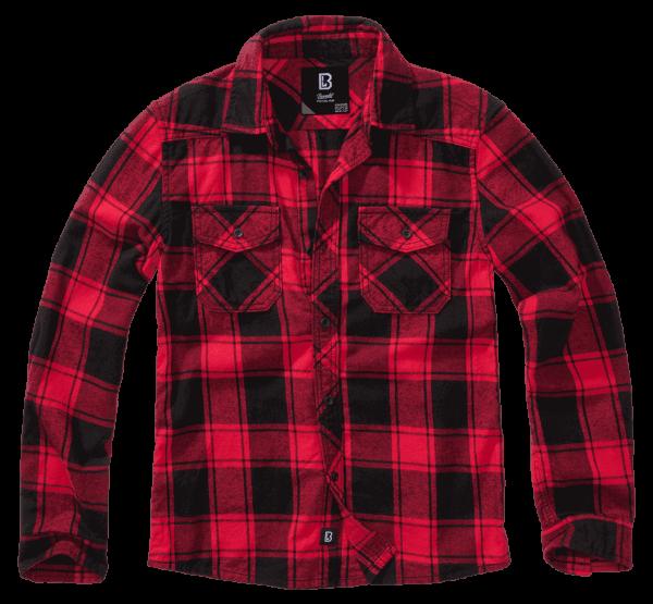 Brandit Kids Checkshirt - red-black - vorn - armyoutlet
