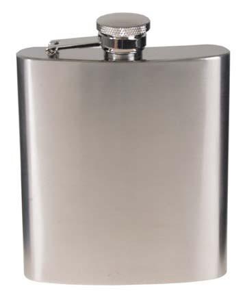 Flachmann 225 ml chrom matt
