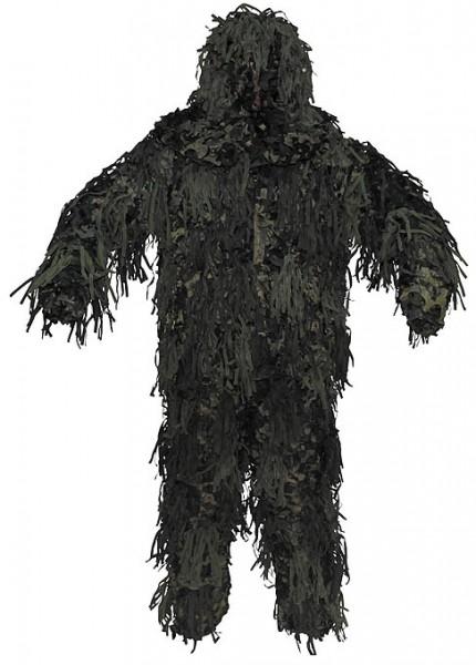 Tarnanzug Ghillie Jackal 3D Body System woodland