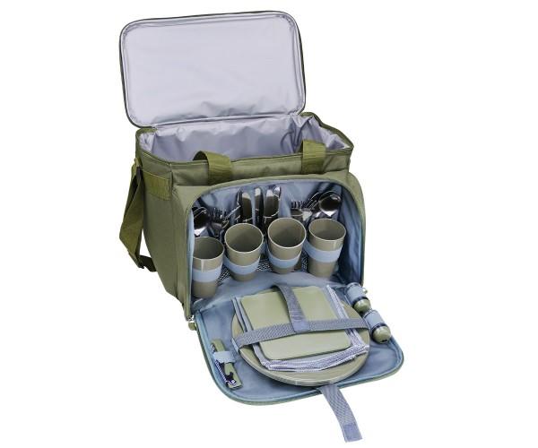 Picknicktasche mit Kühlfach für 4 Personen