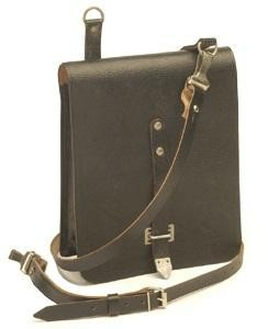 NVA Kartentasche Leder schwarz