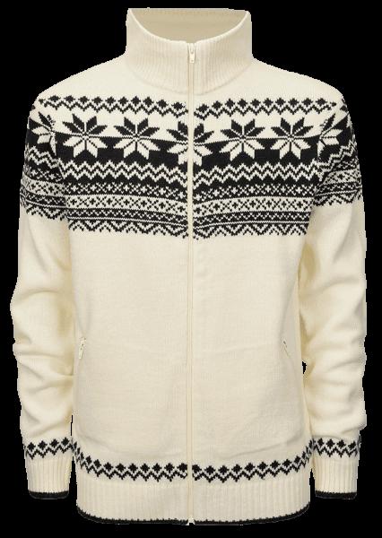 Brandit Cardigan Norweger - white - vorn - armyoutlet