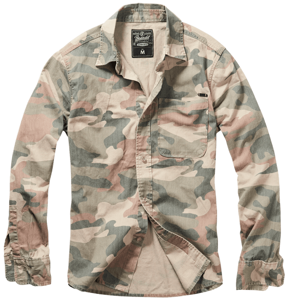 Brandit Josh Shirt camo light woodland