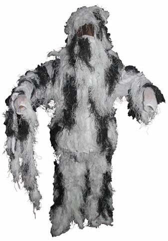 Tarnanzug Ghillie Suit schneetarn