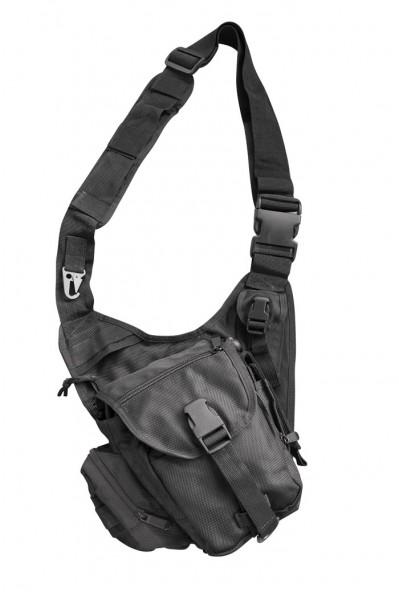 Commando Einsatz Umhängetasche Security Schultertasche schwarz
