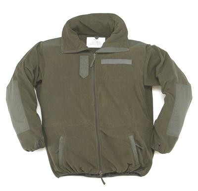 Fleece-Jacke ohne Membrane Windbreaker oliv