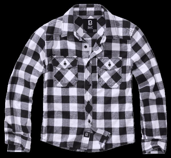 Brandit Kids Checkshirt - withe-black - vorn - armyoutlet
