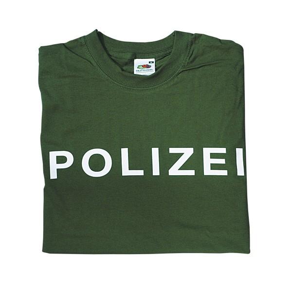 T-Shirt Polizei grün