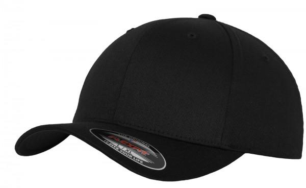 Flexfit Wooly Combed Cap black-black vorn - armyoutel.de