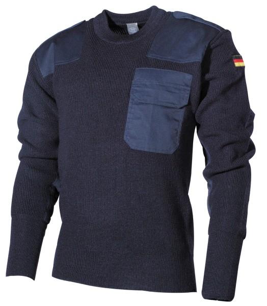BW Pullover mit Brusttasche blau