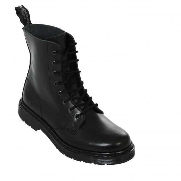 Boots & Braces 8 Loch Boots easy schwarz