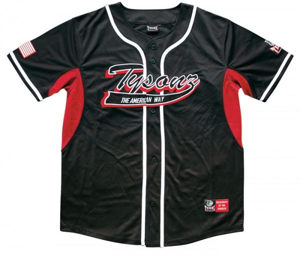 Tysonz Baseball Shirt schwarz-rot