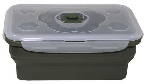Lunchbox faltbar breit oliv 1L