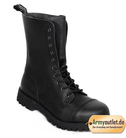 Boots & Braces 10 Loch Boots Rough schwarz