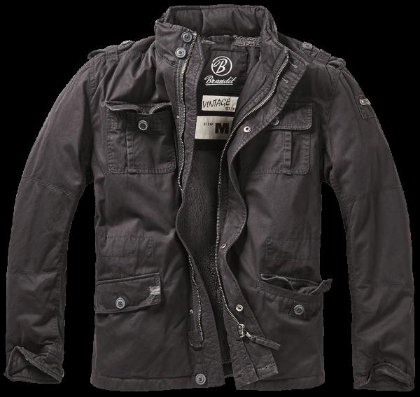 Brandit Britannia Winter Jacket schwarz