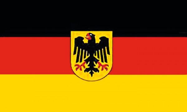 Flagge Deutschland mit Adler 90 x 150 cm